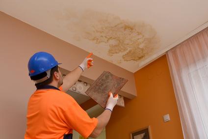 Peinture plafond après dégât des eaux
