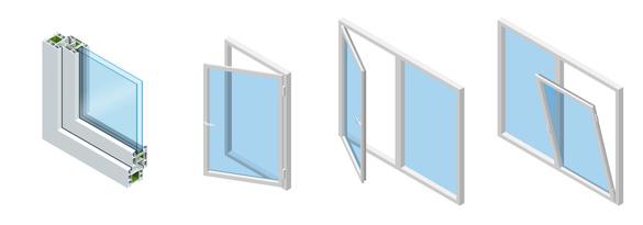 Les ouvrants d'une fenêtre pvc