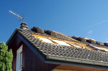 Maison avec pose de toiture en ardoise