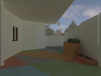 Maison avec dalles en résines
