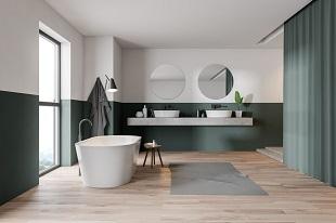 Grande salle de bains récente