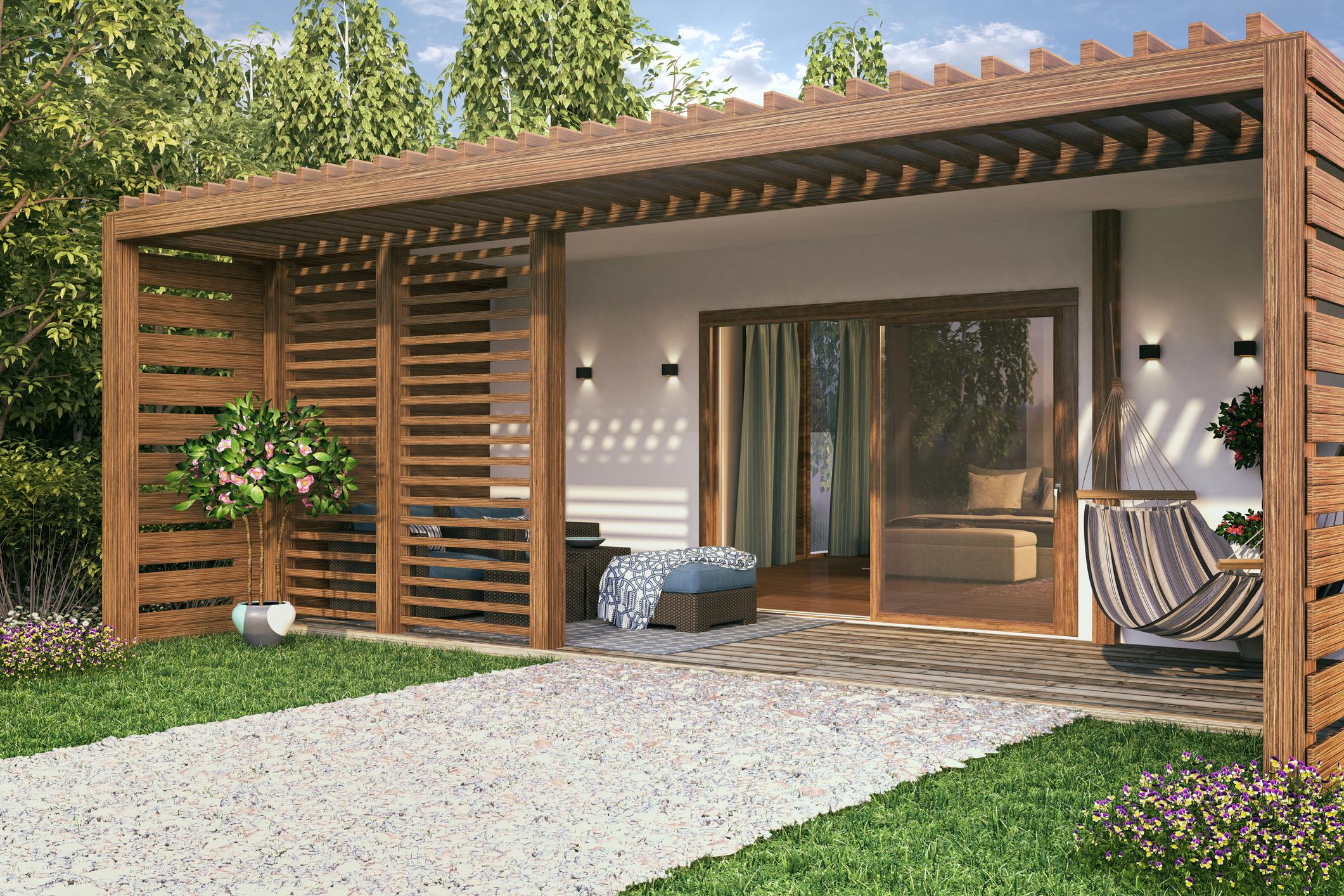 Maison avec du bois