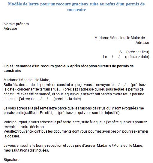 lettre au maire pour une demande daide