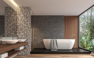 Salle de bains design avec baignoire