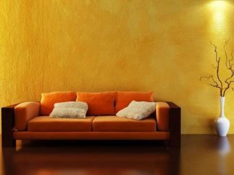 Crépi intérieur jaune