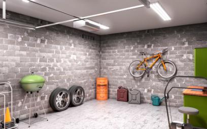Intérieur d'un garage aménagé