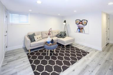 Salon en sous-sol