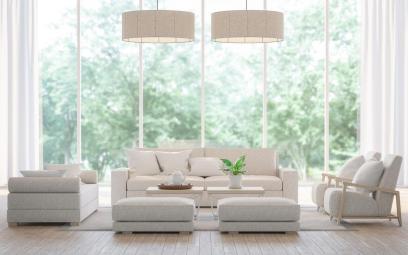 Baie vitrée dans un salon